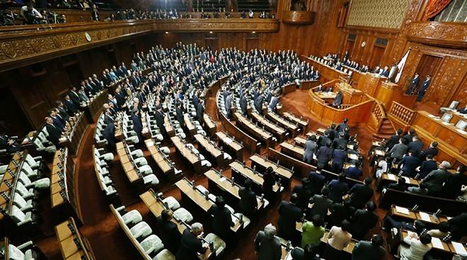 Thượng viện Nhật Bản phê chuẩn TPP hôm 9/12 sau khi hiệp định được thông qua tại Hạ viện vào ngày 10/11. Ảnh: AFP.