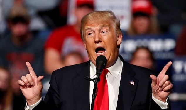 Tổng thống Hoa Kỳ mới đắc cử Donald Trump.