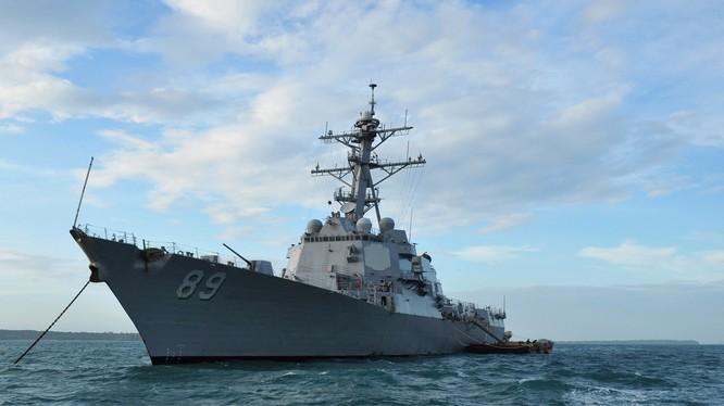 Tàu khu trục USS Mustin của Hải quân Mỹ (ảnh tư liệu: Wiki)