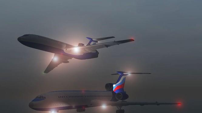 Mô hình đồ họa máy bay Tu-154.