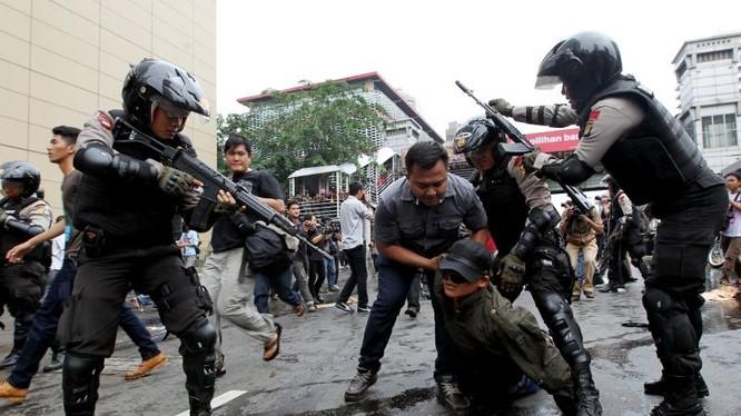 Cảnh sát chống bạo động Indonesia (ảnh minh họa)