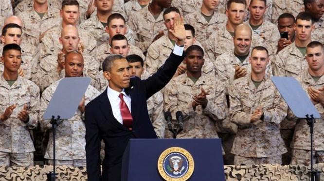 Tổng thống Obama và quân đội Mỹ (ảnh minh họa)