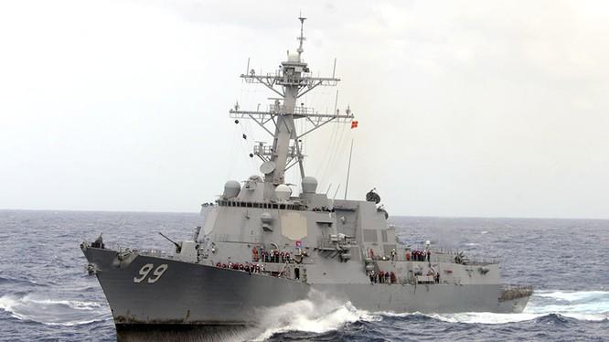 Khu trục hạm USS Mahan của Hải quân Mỹ.