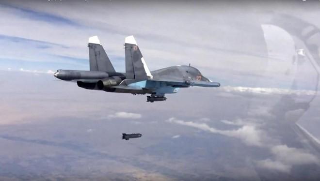 Máy bay Nga tham gia chiến dịch không kích tại Syria. (Nguồn: independent.co.uk)