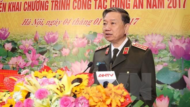Thượng tướng Tô Lâm, Bộ trưởng Bộ Công an. (Ảnh: Doãn Tấn/TTXVN)