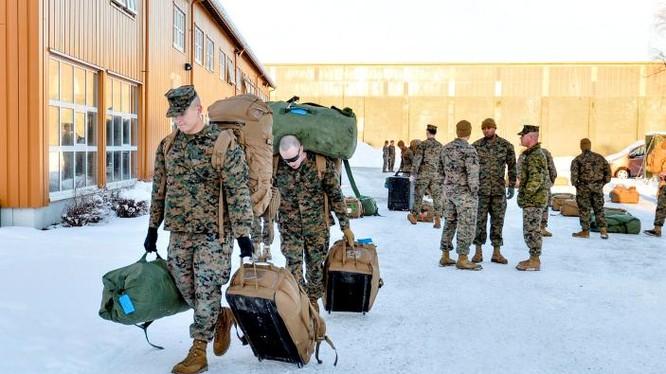 Mỹ triển khai lính thủy đánh bộ đến Na Uy chuẩn bị tập trận