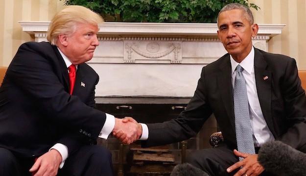 Dù không mấy thiện cảm với ông Trump (trái), Tổng thống Obama vẫn đánh giá cao những gì ông Trump đã đạt được trong cuộc bầu cử Tổng thống vừa qua.