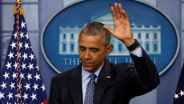 Ông Obama vãy tay chào trong cuộc họp báo lần cuối cùng trước khi rời Nhà Trắng
