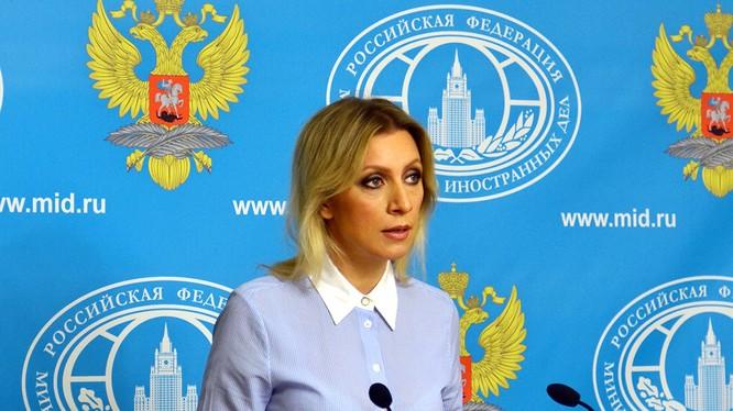 Phát ngôn viên Bộ Ngoại Maria Zakharova.