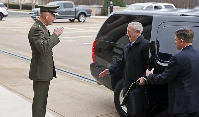 Tướng Mattis đến Lầu Năm Góc trên cương vị Bộ trưởng quốc phòng Mỹ