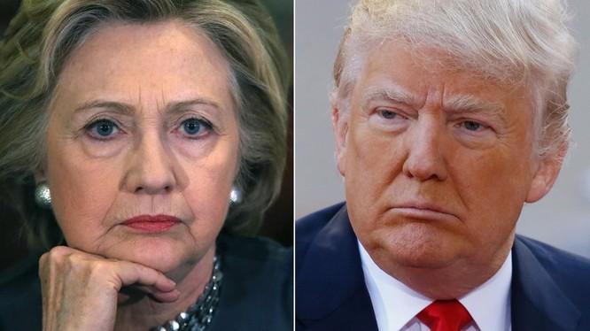 Bà Hillary Clinton và ông Donald Trump.