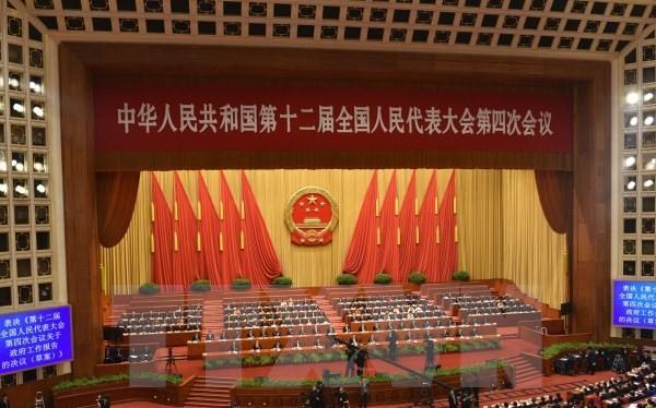 Kỳ họp thứ tư Đại hội đại biểu nhân dân toàn quốc (Quốc hội) Trung Quốc. (Ảnh: Thu Yến Kiên/TTXVN)