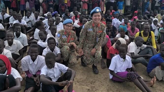 Nỗi lòng người lính trở về từ Nam Sudan. Ảnh: P.T.T.T