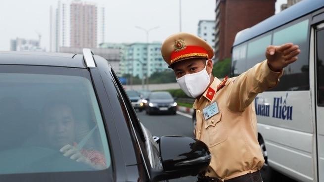 Cảnh sát giao thông đang làm nhiệm vụ. Ảnh: Internet