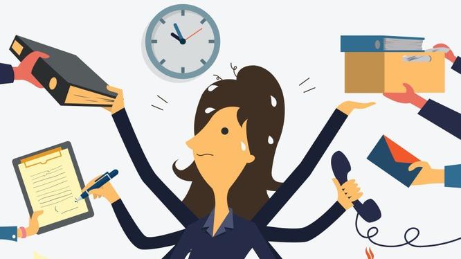 Tập trung và quản lý, sắp xếp được công việc không phải điều dễ dàng. Ảnh: Internet