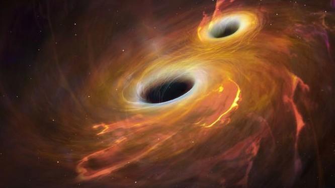 2 hố đen vũ trụ sáp nhập tạo ánh sáng mạnh gấp 1.000 tỷ lần mặt trời. Ảnh: Internet