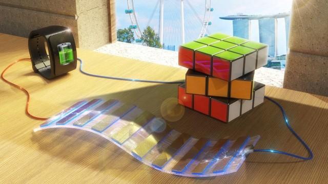Sự tương phản giữa các điểm sáng và bóng râm tạo ra dòng điện. Ảnh: Royal Society of Chemistry