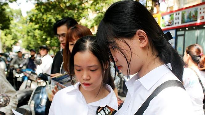 Tra cứu điểm thi vào lớp 10. Ảnh: hanoi.edu.vn