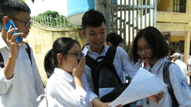 Thí sinh tham gia kỳ thi tốt nghiệp THPT. Ảnh: Internet
