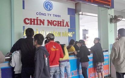 Công ty Chín Nghĩa xin tăng giá vé tuyến Hà Nội - Quảng Ngãi tới 60%.