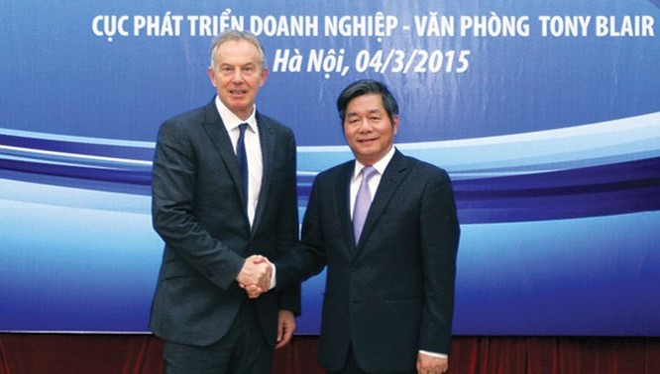 Bộ trưởng Bùi Quang Vinh và cựu Thủ tướng Anh Tonny Blair
