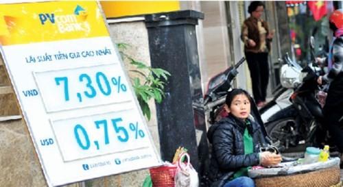 Lãi suất huy động giảm nhưng lãi suất cho vay vẫn đứng im