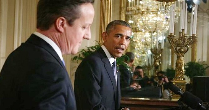 Thủ tướng Anh David Cameron và Tổng thống Mỹ Barack Obama