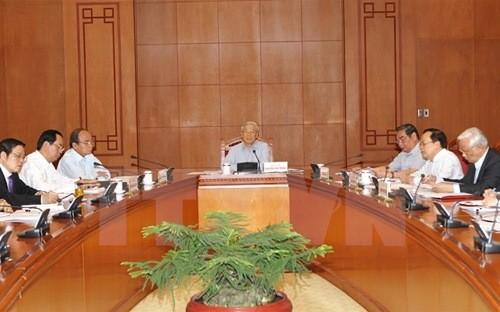 Tổng bí thư Nguyễn Phú Trọng chủ trì cuộc họp của Thường trực Ban Chỉ đạo