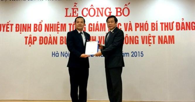 Bộ trưởng Nguyễn Bắc Son trao Quyết định bổ nhiệm cho ông Phạm Đức Long