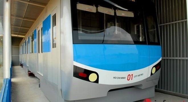 Mô hình tuyến metro số 1 đang được trưng bày.