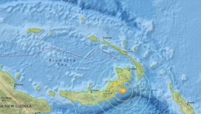 Động đất 7,5 độ Richter ở Papua New Guinea, cảnh báo sóng thần
