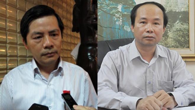 Từ trái qua phải: Giám đốc Trần Huy Sáng và Phó Giám đốc Nguyễn Đình Hoa.