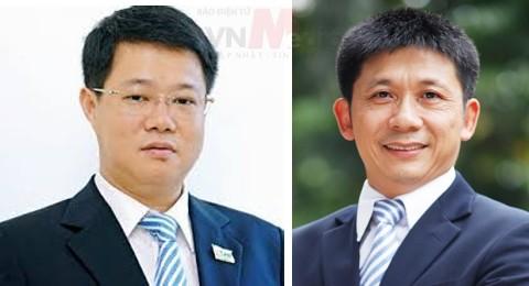 Ông Nguyễn Trường Giang (trái) và ông Bùi Xuân Thu