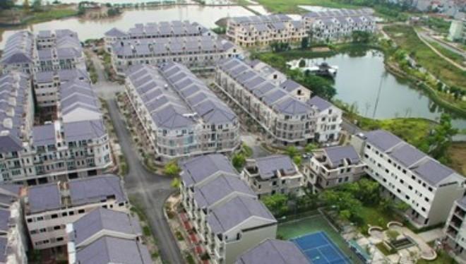 Các căn hộ liền kề tại khu đô thị Xuân Phương, quận Nam Từ Liêm, Hà Nội.
