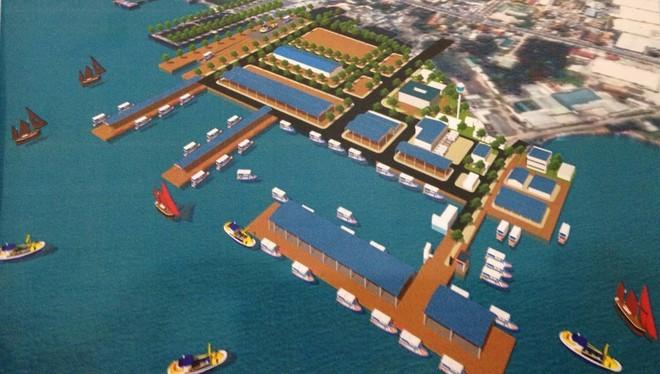 Phối cảnh dự án Trung tâm Nghề cá lớn tại cảng cá Đá Bạc, thành phố Cam Ranh, tỉnh Khánh Hòa
