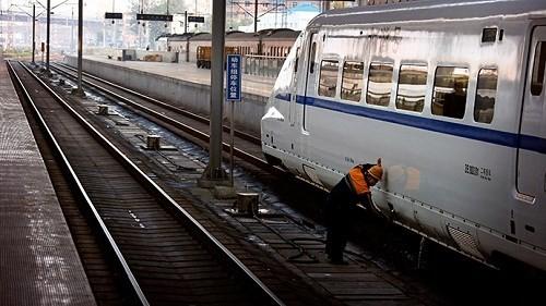 Dịch vụ vận tải hàng hóa đường sắt nối liền khu tự trị Tân Cương (Trung Quốc) với Moscow (Nga) vừa đi vào hoạt động - Ảnh: Reuters