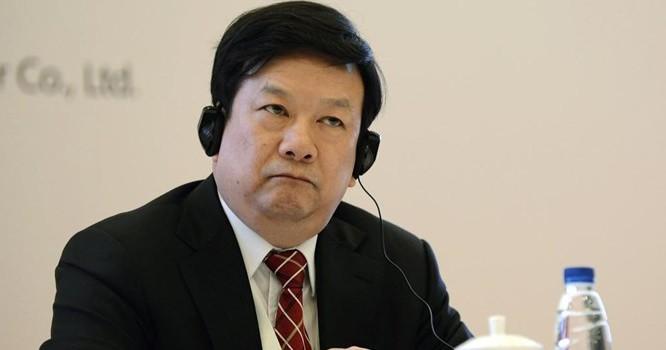 Ông Liệu Vĩnh Viễn, Phó Chủ tịch tập đoàn dầu khí PetroChine dự hội nghị tại Bắc Kinh. Ảnh tư liệu chụp ngày 16/05/2013