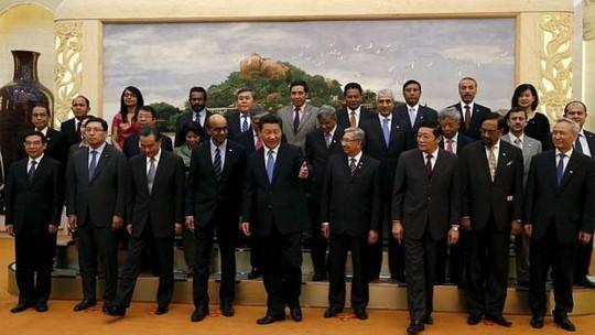Đa số thành viên tham gia AIIB là các nước châu Á và quốc gia thuộc khu vực Trung Đông, Nam Mỹ. Ảnh: REUTERS