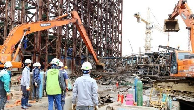 Sập giàn giáo tại Formosa khiến 13 người chết