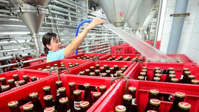 Một dây chuyền sản xuất của Công ty bia Sài Gòn