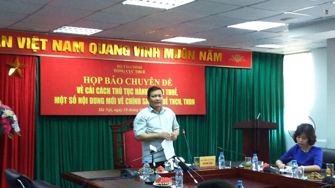 Ông Phi Anh Tuấn - Phó Tổng Cục trưởng Tổng cục Thuế chủ trì buổi họp