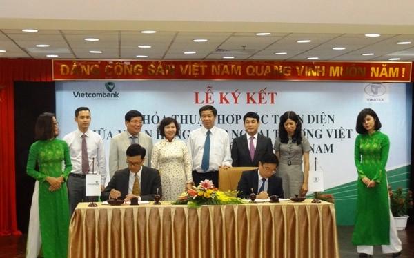 Lễ ký kết Thỏa thuận hợp tác toàn diện giữa Vietcombank và Vinatex