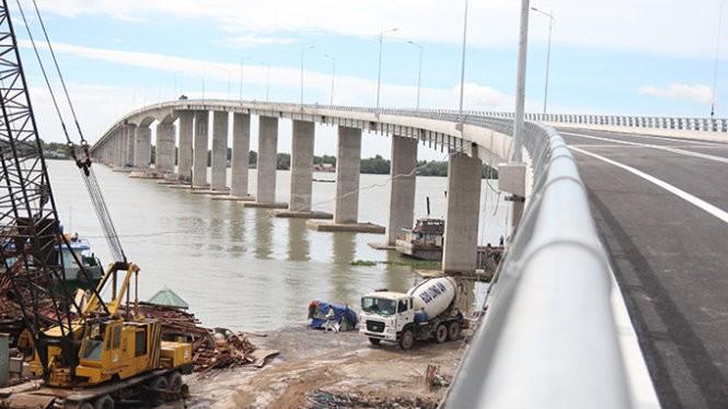 Cầu Mỹ Lợi nối giữa Long An - Tiền Giang sẽ chính thức thông xe kỹ thuật vào ngày 29-8 sau khoảng 20 tháng thi công