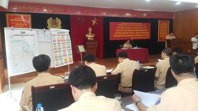 Phòng CSGT HN họp triển khai công tác phân luồng, bảo đảm ATGT dịp lễ 2/9
