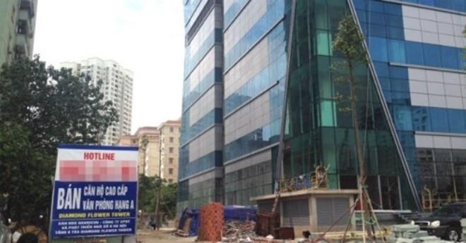 Diamond Flower Tower (Lê Văn Lương, Hà Nội) của CTCP Đầu tư và Phát triển nhà số 6 Hà Nội nợ thuế khủng.