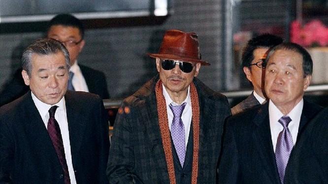 """""""Bố già"""" Shinobu Tsukasa, hay còn gọi là Kenichi Shinoda - thủ lĩnh băng mafia lớn nhất Nhật Bản - Ảnh: AFP"""