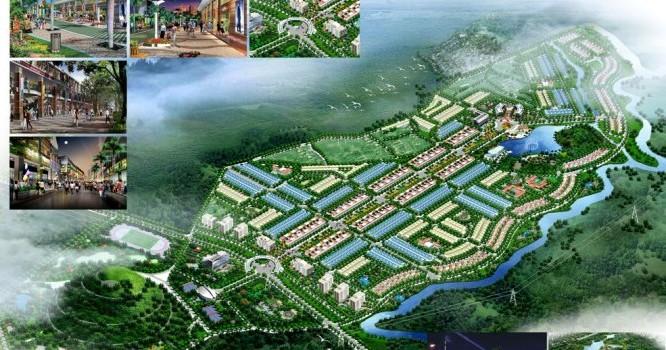 Phối cảnh dự án khu đô thị mới Phú Mỹ của HUD tại Quảng Ngãi.