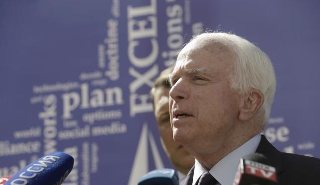 Thượng nghị sĩ John McCain khẳng định Mỹ phải phớt lờ đòi hỏi chủ quyền vô lý của Trung Quốc trên Biển Đông - Ảnh: Reuters