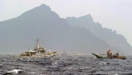 Ba tàu Trung Quốc tiến vào vùng tranh chấp ở biển Hoa Đông