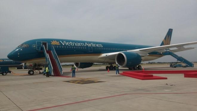 Chiếc máy bay AirbusA350 đầu tiên của Vietnam Airlines. (Ảnh: Tuổi trẻ)